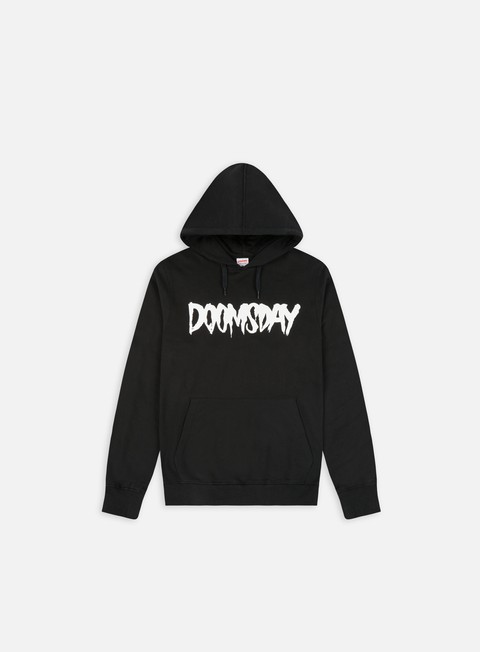 felpe doomsday logo hoody black white