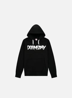 Doomsday - Logo Hoody, Black/White Drawstring