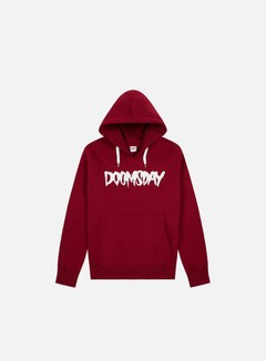 Doomsday - Logo Hoody, Burgundy/White 1