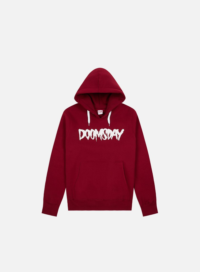 Doomsday - Logo Hoody, Burgundy/White