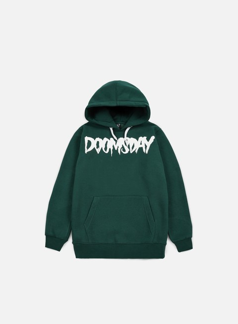 felpe doomsday logo hoody forest green white