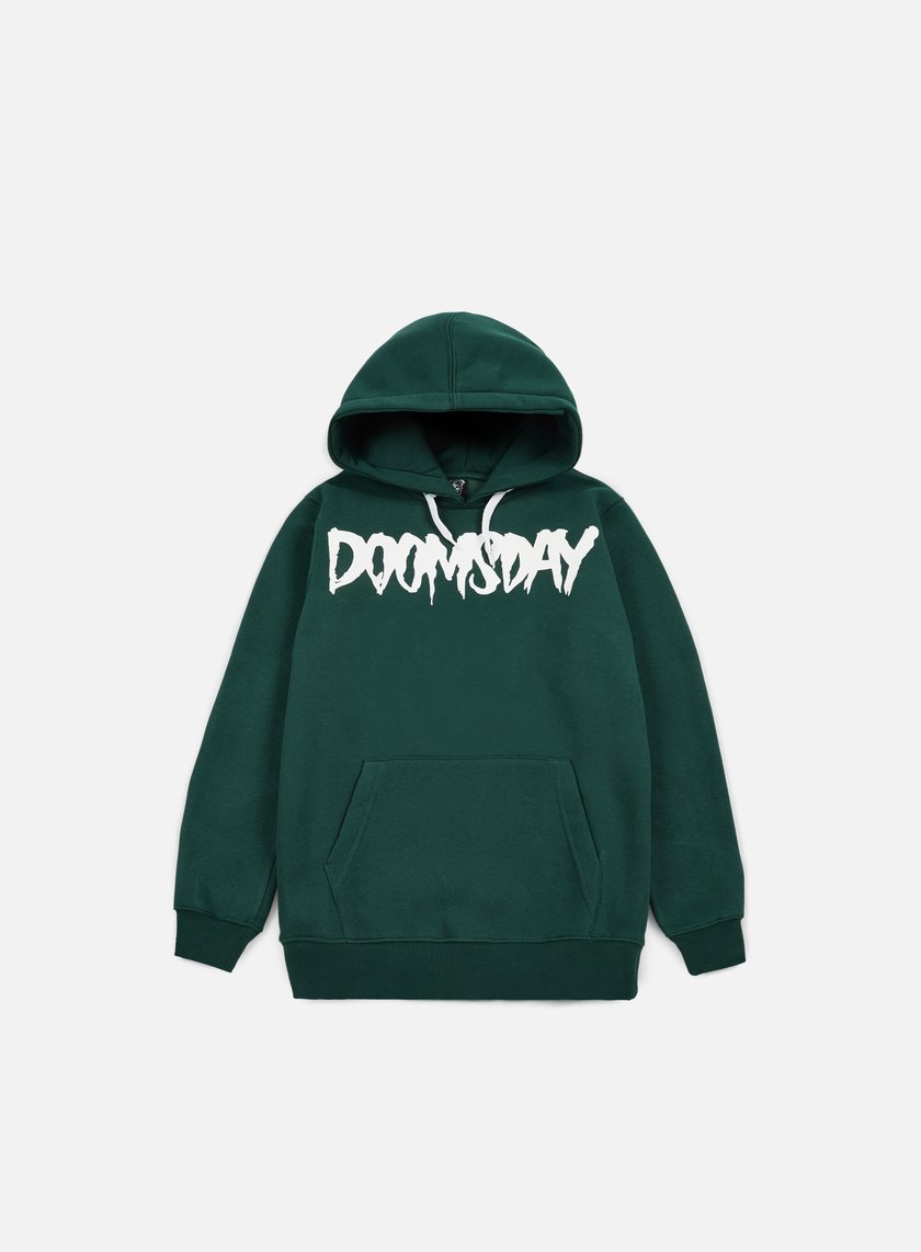 Doomsday - Logo Hoody, Forest Green/White