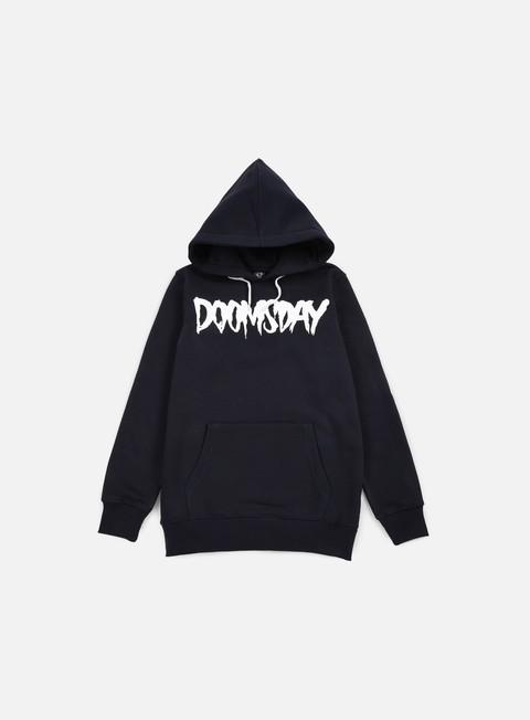 felpe doomsday logo hoody navy white