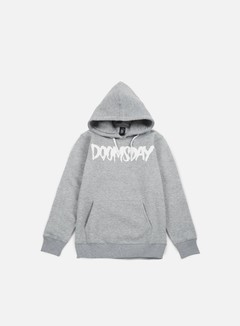 Doomsday - Logo Hoody, Sport Grey/White