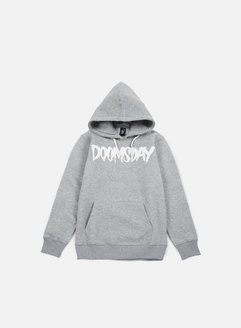 felpe doomsday logo hoody sport grey white