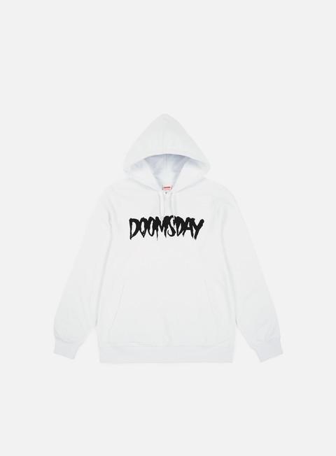 felpe doomsday logo hoody white