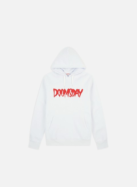 felpe doomsday logo hoody white red
