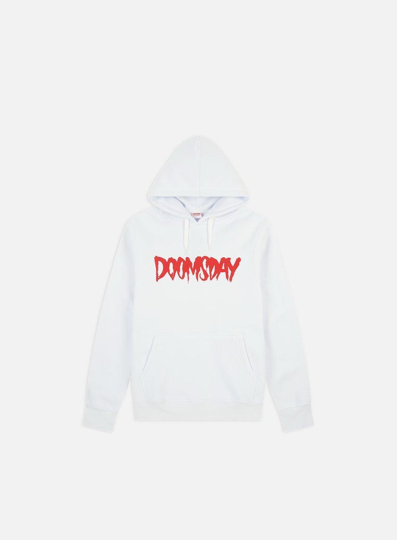 Doomsday - Logo Hoody, White/Red