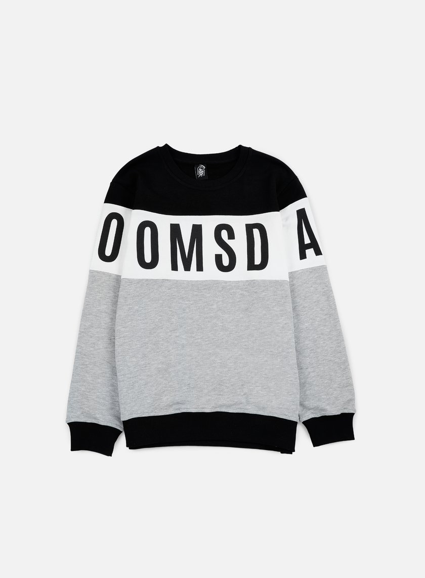 Doomsday - Logo Round Crewneck, Black/White/Grey