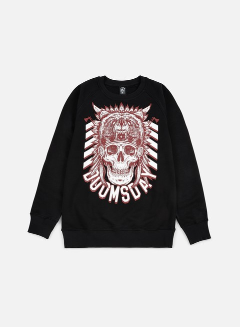 felpe doomsday native crewneck black