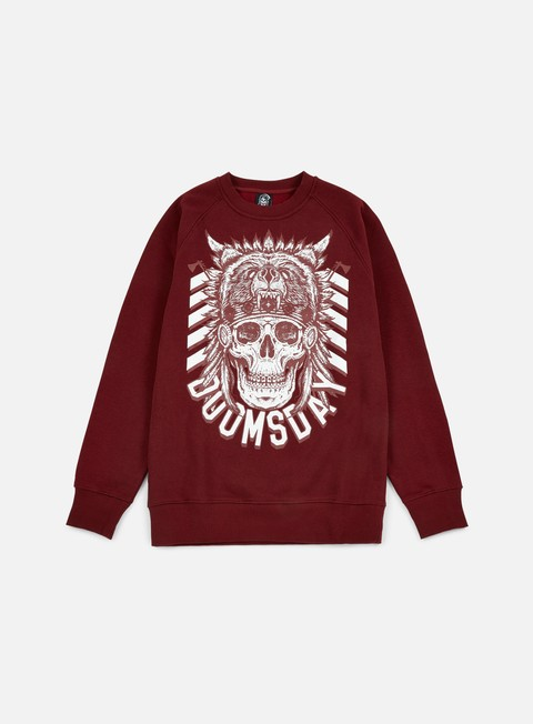 felpe doomsday native crewneck burgundy