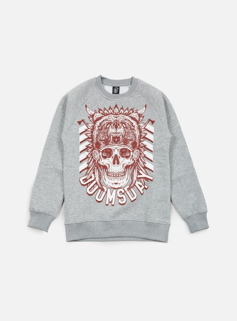 felpe doomsday native crewneck sport grey