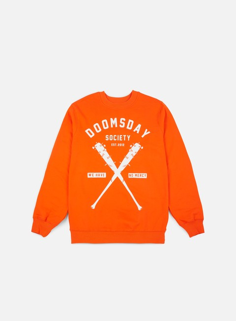 felpe doomsday no mercy crewneck brushed orange