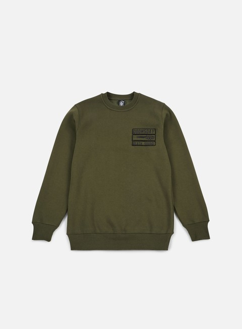 felpe doomsday old guns crewneck army green