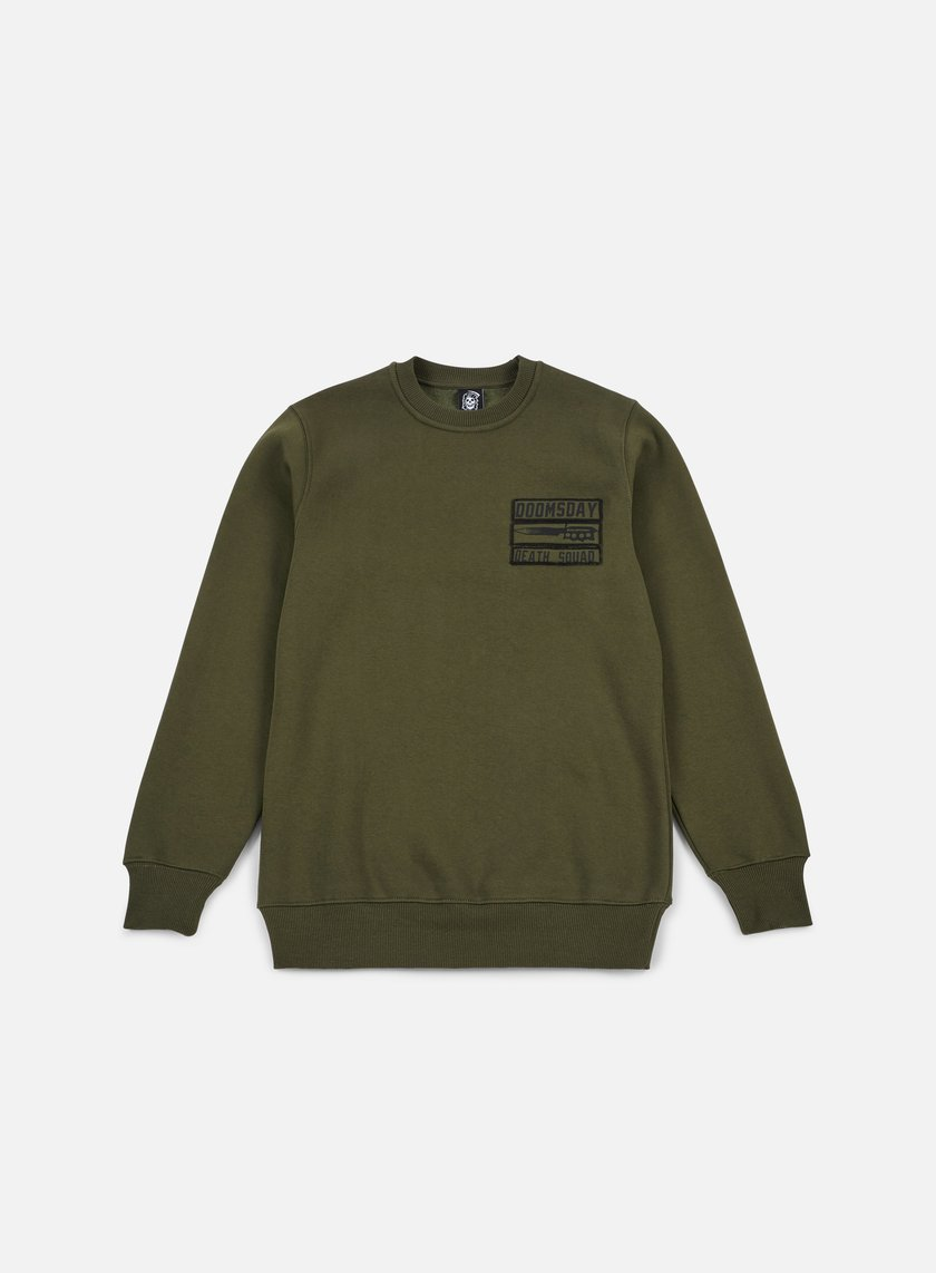 Doomsday - Old Guns Crewneck, Army Green