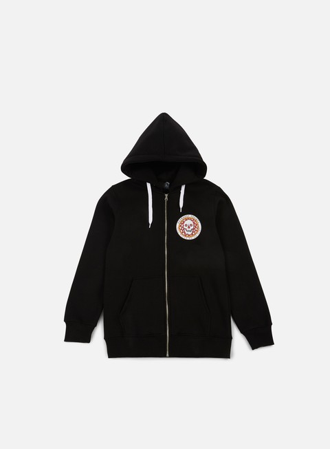 felpe doomsday pizza zip hoody black