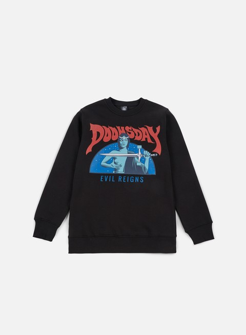 Outlet e Saldi Felpe Girocollo Doomsday Power Sword Crewneck