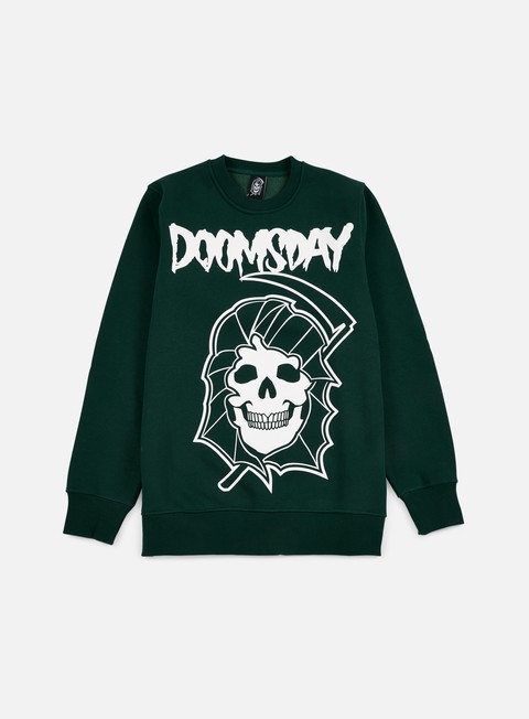 felpe doomsday reaper crewneck green forest