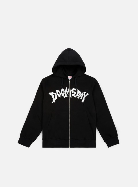 felpe doomsday screamer zip hoody black