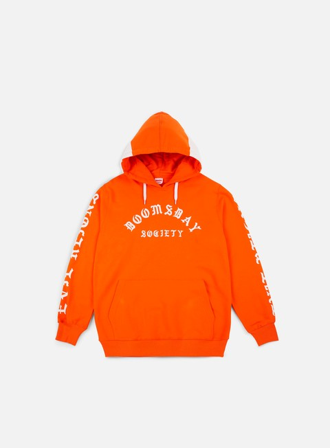 felpe doomsday times hoodie orange