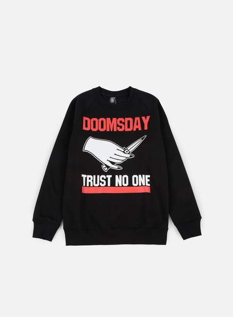 felpe doomsday trust no one crewneck black