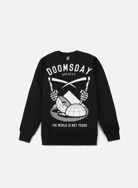 felpe doomsday twiny crewneck black