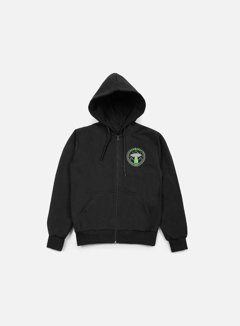 felpe doomsday ufo zip hoodie black