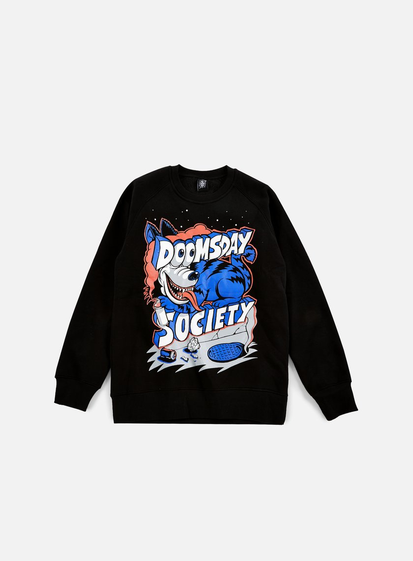 Doomsday - Wild Dog Crewneck, Black
