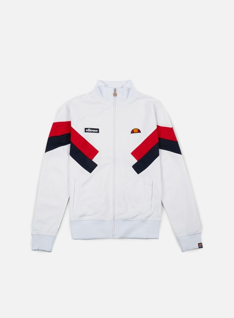 felpe ellesse chierroni track top optic white