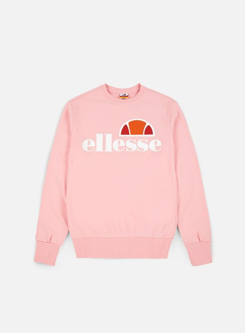 felpe ellesse succiso 2 crewneck strawberry cream