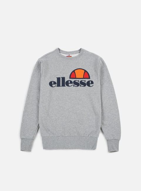 felpe ellesse succiso crewneck athletic grey marl