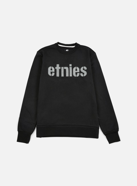 felpe etnies e lock crewneck black grey