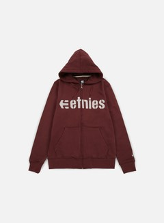 Etnies - E-Lock Zip Hoodie, Burgundy