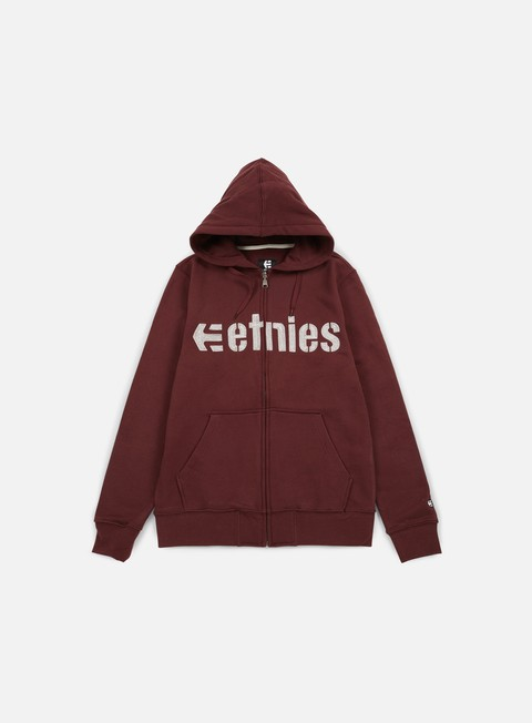 felpe etnies e lock zip hoodie burgundy