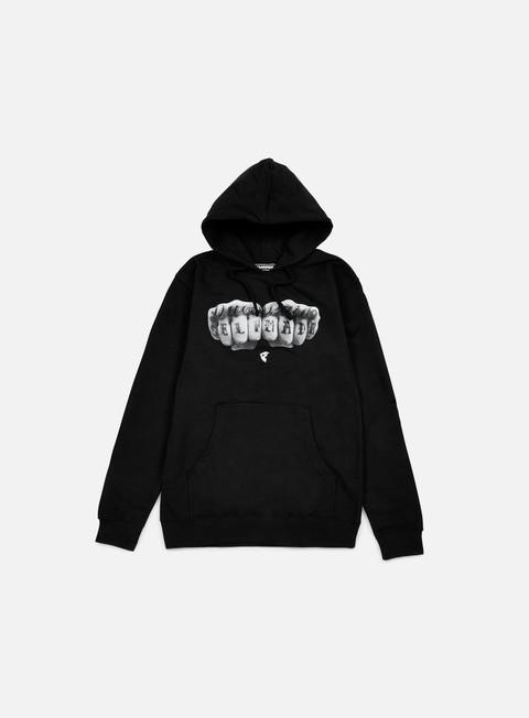 felpe famous knuckles hoodie black
