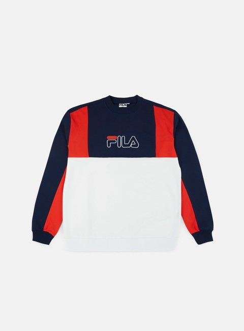 felpe fila antonio crewneck peacoat high risk red