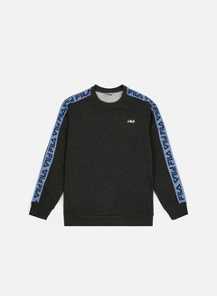 Fila - Aren Crewneck, Dark Grey Melange