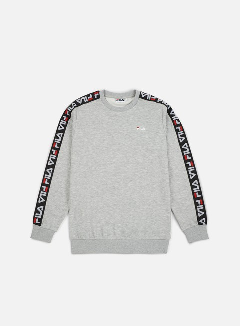 felpe fila aren crewneck light grey melange bros