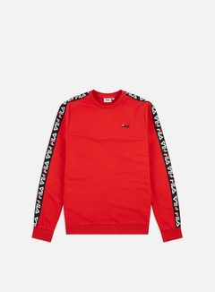 Fila - Aren Crewneck, True Red/Black