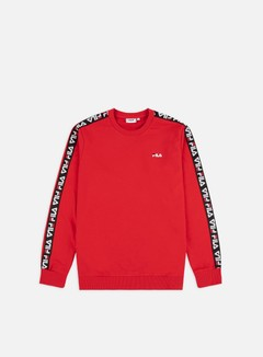 Fila - Aren Crewneck, True Red/White