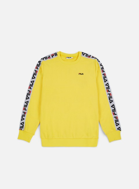 felpe fila aren crewneck vibrant yellow