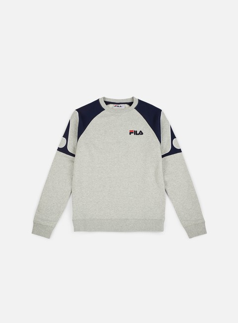 felpe fila aria archive raglan crewneck light grey marl