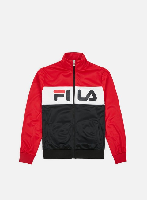 felpe fila balin track jacket true red bright white black
