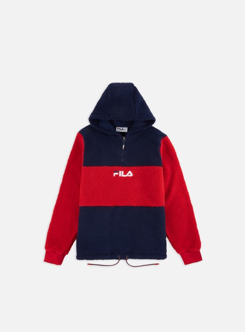 Sweatshirt With Zip Inserts Fleece Red S ELLESSE/_792011/_700 Ellesse