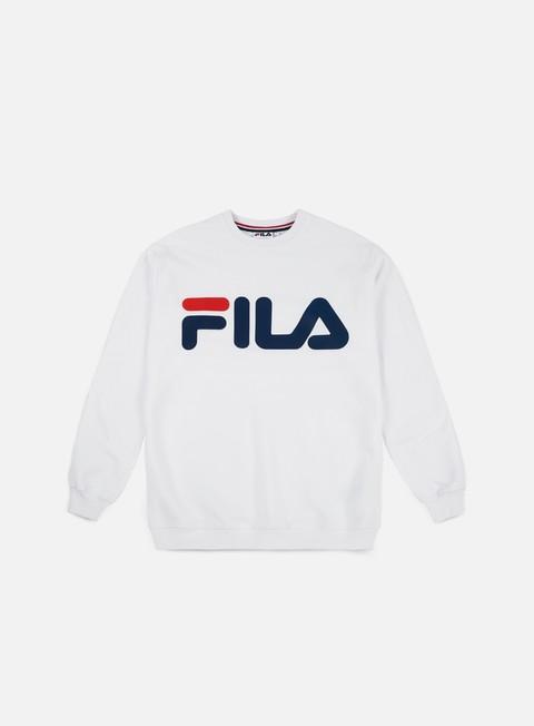 felpe fila classic logo crewneck bright white