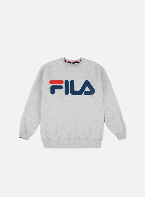 felpe fila classic logo crewneck light grey