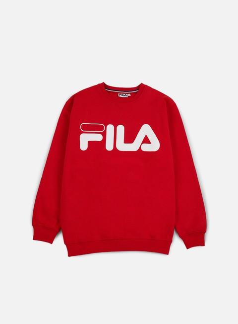 felpe fila classic logo crewneck true red