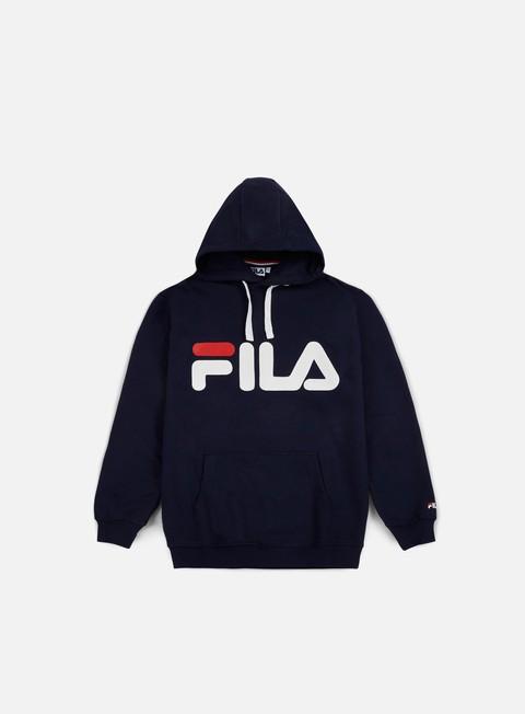 felpe fila classic logo hoodie kangaroo black iris