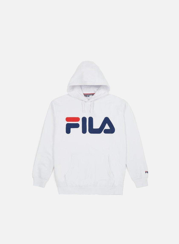 Fila - Classic Logo Hoodie Kangaroo, Bright White