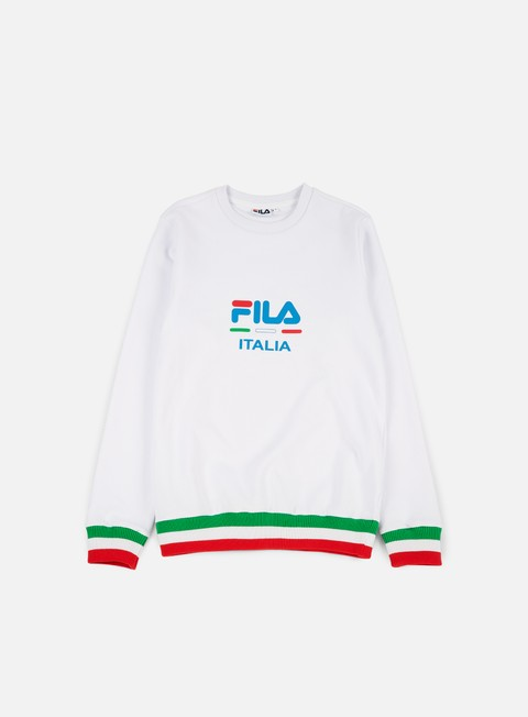 felpe fila cody crewneck bright white